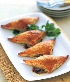 black bean & banana empanadas.  labor intensive, but worth the effort.  the banana makes all the difference.  serve as a heavy hors d'oeuvre or as a main attraction for a dinner buffet.