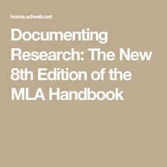 Mla handbook for writers of research papers sixth