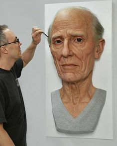 Philip by Jamie Salmon at Avatar Sculputre Works (Silicone, pigment, resin, hair, metal and wood) Baker Image, Earth Drawings, Art Drawings Sketches Simple, Artist Life, Sculpture Clay, Face Art, Art Faces, Simply Beautiful, New Art