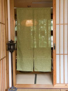 Noren Japanese hanging curtain Matcha green 85*150cm made in japan