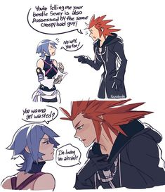 Yeeeees please! Lea x Aqua all the way, or at least let them interact a little in KH3, for example during the rescue of Ven.
