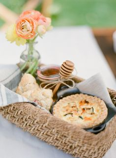 #Recipe #DIY Mother's Day Basket filled with scrumptious Lemon Blueberry Scones. Get the recipe here: http://www.stylemepretty.com/living/2013/05/08/mothers-day-basket/ Photography by KT Merry / www.ktmerry.com/ #SMPLiving