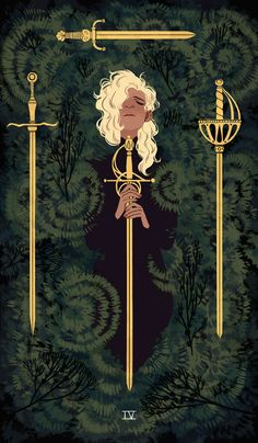 For my second semester senior thesis, I am completeing the Suit of Swords from the minor arcana tarot card deck.