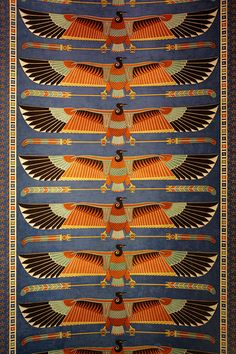 Detail ceiling mural Egypt -