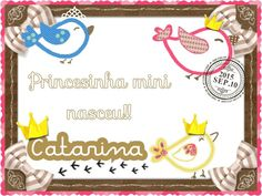 Cartão maternidade.