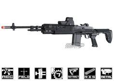 G Full Metal M14 HBA Long AEG Airsoft Gun #airsoft
