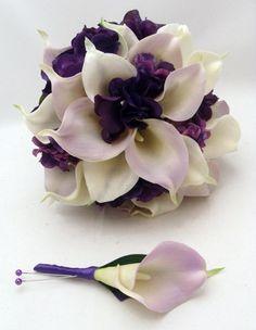lilies and hydrangeas bouquet. Beautiful!!