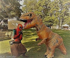 K. A. Photography for Catalina Angelina's Event Services Dead Pool and T-Rex at the Lion's Club Ren Faire  Lakewood, New Jersey 2017