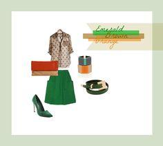 #set #outfit #clothes #stylish  Emerald Brown Orange / by Taki Trik