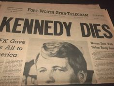 Vintage Fort Worth Star Telegram Robert Kennedy Dies Bobby Kennedy Dies