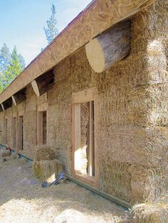 possibilities Straw Bale Construction, Cordwood Homes, Earth Sheltered Homes, Rammed Earth Homes, Earth Bag Homes, Earthy Home, Eco Buildings, Straw Bales, Natural Homes