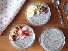 Vanilkový chia pudink Oatmeal, Pudding, Breakfast, Food, The Oatmeal, Morning Coffee, Puddings, Meals, Yemek