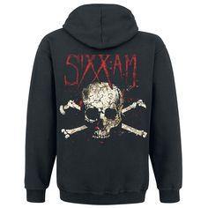 "Felpa uomo nera ""Skull"" degli #SixxAM"