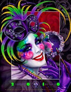 JazzyStuff.com presents Mistretta 2010 Mardi Gras Poster