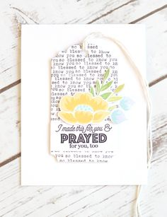 Made This For You Card by Stephanie Gold for Papertrey Ink (April 2017)
