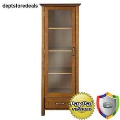 Wood Storage Cabinet Tall Kitchen Pantry Cupboard Bathroom Organizer Furniture