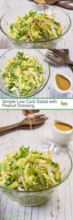 Low Carb Salad with Peanut Dressing