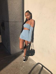 Check out ❤️ Dope Fashion, Black Girl Fashion, Fashion Killa, Stylish Outfits, Cool Outfits, Summer Outfits, Fashion Outfits, Outfit Goals, Swagg