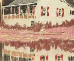 """Peter Doig. Camp Forestia. 1996. Pastel on paper. 7 7/8 x 9 1/2"""" (20 x 24.1 cm). The Judith Rothschild Foundation Contemporary Drawings Collection Gift. 1568.2005. © 2017 Peter Doig. Drawings and Prints"""