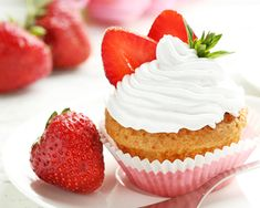 Freshly picked berries meet freshly baked cupcakes for a delectable homegrown and homemade treat.