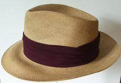 Vintage Straw Panama Mens Fedora Hat by marvita13 on Etsy, $175.00
