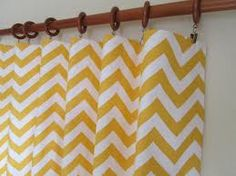 yellow and white chevron curtains - Google Search