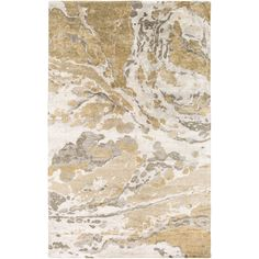 """Hand-Tufted Jennie Banana Silk Indoor Rug (3'3 x 5'3) (Ivory-(3'3"""" x 5'3"""")), Ivory (Synthetic, Abstract)"""