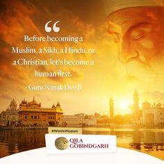 Let's make humanity the biggest religion! Guru Nanak Teachings, Nanak Dev Ji, Amritsar, How To Become, Religion, The Creator, Wisdom, Faith, Christian
