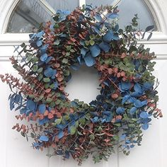 Northern Lights At Sunrise Eucalyptus Wreath 17 Inch -- Click on the image for additional details.