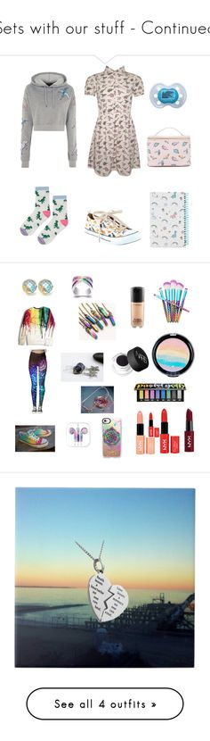 """""""Sets with our stuff - Continued"""" by secretarialap ❤ liked on Polyvore featuring Topshop, Forever 21, Kuccia, Casetify, Converse, NARS Cosmetics, Kat Von D, MAC Cosmetics, Charlotte Russe and NYX"""