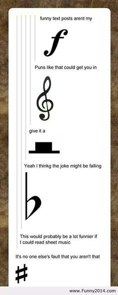 You will understand how funny this is of you read sheet music.