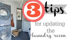3 tips for updating the laundry room the frugal way.