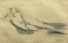 Marthe Donas : Liggend naakt nr.2 1917