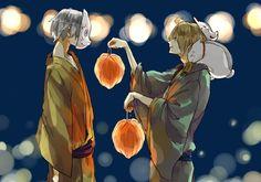 Gin (Hotarubi no Mori e) & Natsume and Madara (Natsume Yuujinchou) #anime