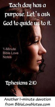 It's a good idea to pause and ponder the thoughts in this 1-minute devotion…