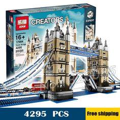 4295pcs New Lepin 17004 Huge Tower Bridge DIY Model Building Blocks unique Drawbridge Toys Sets Compatible With lego #Affiliate