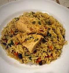 Chicken with Rice and Vegetable with cream sauce (Lactose Free) (IBS friendly)