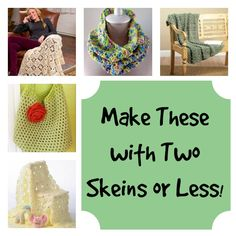 You can make these free crochet afghan patterns with 2 skeins or less!