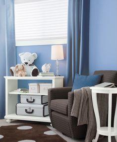 Color comparison - all blue kids room. www.PrestigePaints.com