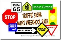 Traffic Signs {FREE} Preschool Pack