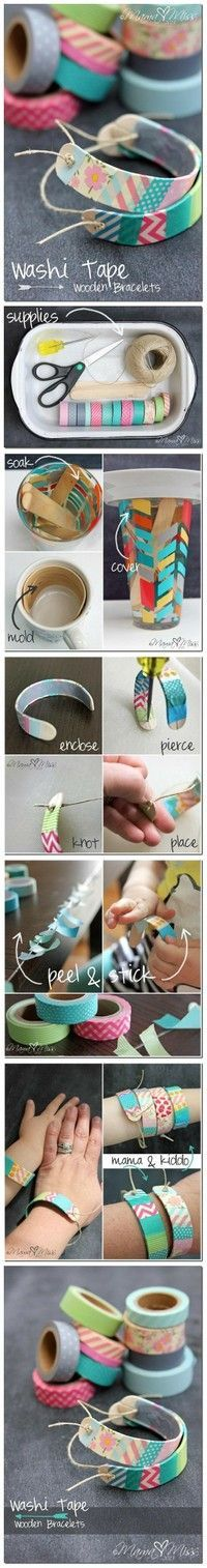 Popsicle Stick Braclet