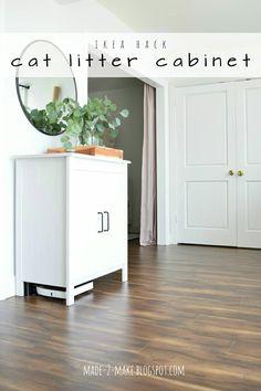 Made2Make Blog | Ikea Hack: DIY Cat Litter Cabinet