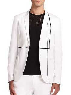 Armani Geometric Striped Cotton Jacket | Coat, Jacket and Clothing