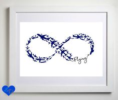 Infinity Symbol Pilot Gift Gifts for Pilots by LuvOfMineDesigns More