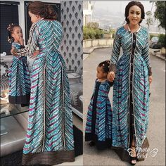 Choose from the best and beautiful matching African ankara styles for mother and daughter. These ankara styles are meant for stunning mother and daughter African Maxi Dresses, Latest African Fashion Dresses, African Inspired Fashion, African Print Fashion, African Attire, African Wear, African Women, African Kids, African Outfits