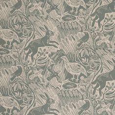 Harvest Hare fabric by Mark Hearld via St Jude's Fabric