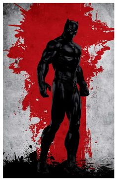 Vintage Avengers Movie Poster - Black panther  Poster size: 11 inches x 17 inches  - Printed on high quality, weather resistant, 220g texture