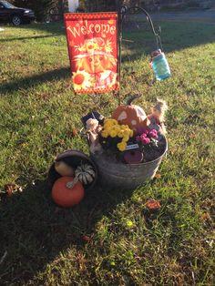 A little outdoor Fall decor (The Gilbert Homestead) :-)sg