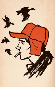 D Salinger Holden Caulfield Catcher In The Rye Poster Print Picture Holden Caulfield, Book Cover Art, Book Cover Design, Book Design, J.d. Salinger, Great Books, My Books, Amazing Books, Book Tag