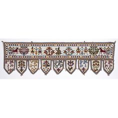 Toran (door hanging) of beadwork, Saurashtra, West India, century Indian Embroidery, Beaded Embroidery, Indian Textiles, Victoria And Albert Museum, Craft Work, Art And Architecture, Handicraft, Arts And Crafts, Beads